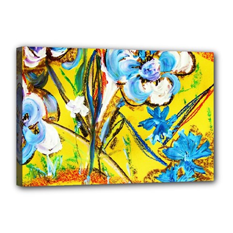 Dscf1422   Country Flowers In The Yard Canvas 18  X 12  by bestdesignintheworld
