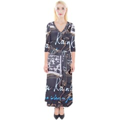 Dscf1638   Written Poems Quarter Sleeve Wrap Maxi Dress
