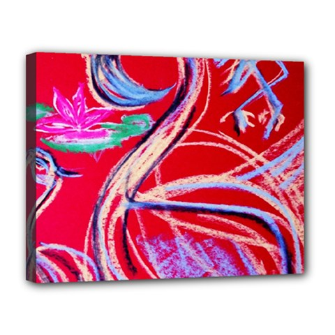 Dscf1395  Pink Flamingo Dance Canvas 14  X 11  by bestdesignintheworld