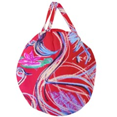 Dscf1395  Pink Flamingo Dance Giant Round Zipper Tote