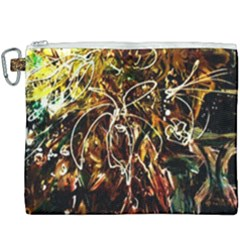 Dscf3438   Golden Flowers In Ceramics Canvas Cosmetic Bag (xxxl)