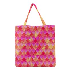 Squama Fhis Paint Flower Of Life Pattern Grocery Tote Bag by Cveti