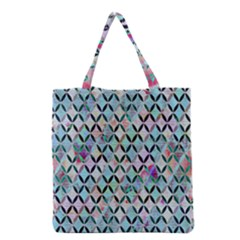 Rhomboids Flower Of Life Paint Pattern Grocery Tote Bag by Cveti