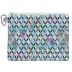 Rhomboids Flower Of Life Paint Pattern Canvas Cosmetic Bag (xxl) by Cveti