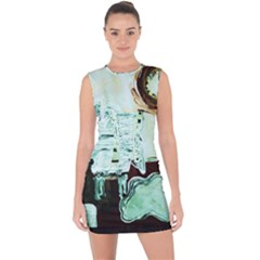 Dscf1961   White Room Lace Up Front Bodycon Dress