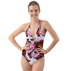 Dscf1554   Madonna And Child Halter Cut Out One Piece Swimsuit