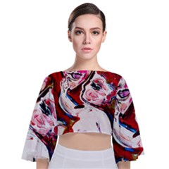 Dscf1554   Madonna And Child Tie Back Butterfly Sleeve Chiffon Top