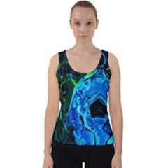 Dscf1604   Lady In Blue Kimono Velvet Tank Top