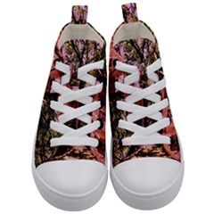 Hot Day In  Dallas 6 Kid s Mid Top Canvas Sneakers