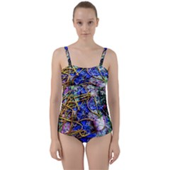 Moment Of The Haos 12 Twist Front Tankini Set