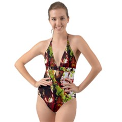 Collosium   Swards And Helmets 4 Halter Cut Out One Piece Swimsuit