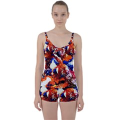 Smashed Butterfly 1 Tie Front Two Piece Tankini