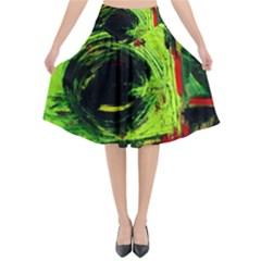 Abandoned Mine 7 Flared Midi Skirt