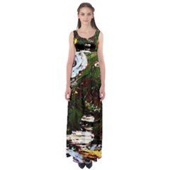 Weed Tumbler And Blue Rose Empire Waist Maxi Dress