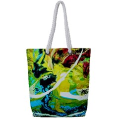 New Moon 6 Full Print Rope Handle Tote (small)