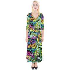 There Where Alice Took A Walk 5 Quarter Sleeve Wrap Maxi Dress