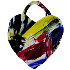 Lets Forget The Black Squere 2 Giant Heart Shaped Tote