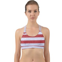 Stripes2white Marble & Red Denim Back Web Sports Bra