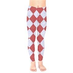 Square2 White Marble & Red Denim Kids  Legging