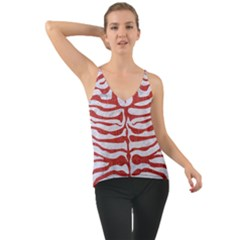 Skin2 White Marble & Red Denim (r) Cami