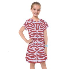 Skin2 White Marble & Red Denim Kids  Drop Waist Dress