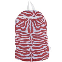 Skin2 White Marble & Red Denim Foldable Lightweight Backpack