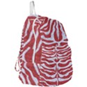 SKIN2 WHITE MARBLE & RED DENIM Foldable Lightweight Backpack View3