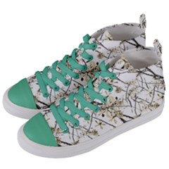 Nature Graphic Motif Pattern Women s Mid Top Canvas Sneakers by dflcprints
