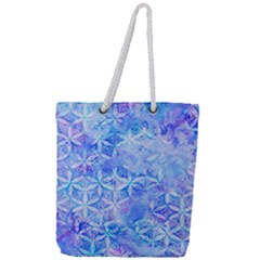 Flower Of Life Paint Pattern 8jpg Full Print Rope Handle Tote (large)