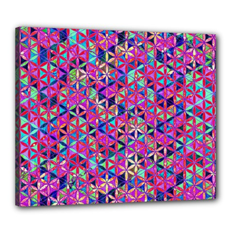 Flower Of Life Paint Pattern 10 Canvas 24  X 20
