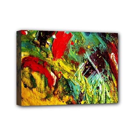 Yellow Chick 7 Mini Canvas 7  X 5  by bestdesignintheworld