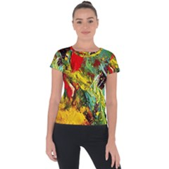 Yellow Chick 7 Short Sleeve Sports Top