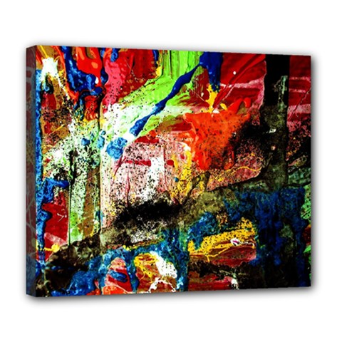 Untitled Red And Blue 3 Deluxe Canvas 24  X 20   by bestdesignintheworld