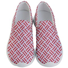 Woven2 White Marble & Red Colored Pencil (r) Men s Lightweight Slip Ons