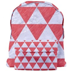 Triangle3 White Marble & Red Colored Pencil Giant Full Print Backpack