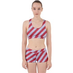 Stripes3 White Marble & Red Colored Pencil (r) Work It Out Gym Set