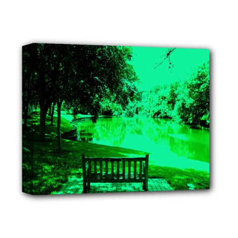 Lake Park 20 Deluxe Canvas 14  X 11  by bestdesignintheworld