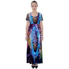 New   Well Forgotten Old 13 High Waist Short Sleeve Maxi Dress