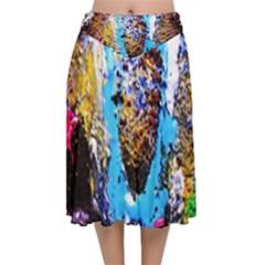 New   Well Forgotten Old 13 Velvet Flared Midi Skirt by bestdesignintheworld