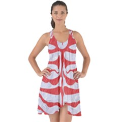 Skin2 White Marble & Red Colored Pencil (r) Show Some Back Chiffon Dress