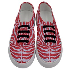 Skin2 White Marble & Red Colored Pencil Men s Classic Low Top Sneakers