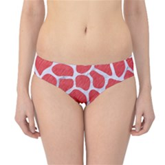 Skin1 White Marble & Red Colored Pencil (r) Hipster Bikini Bottoms by trendistuff