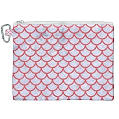 Scales1 White Marble & Red Colored Pencil (r) Canvas Cosmetic Bag (xxl) by trendistuff