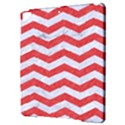 CHEVRON3 WHITE MARBLE & RED COLORED PENCIL Apple iPad Pro 9.7   Hardshell Case View3