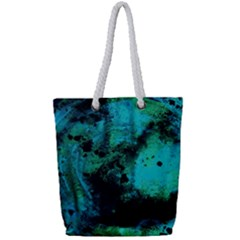 Blue Options 8 Full Print Rope Handle Tote (small)