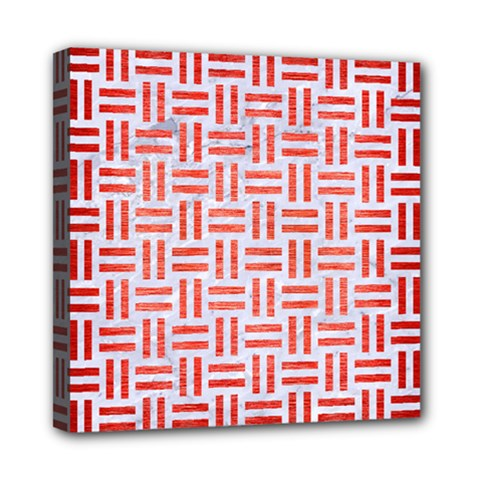 Woven1 White Marble & Red Brushed Metal (r) Multi Function Bag	 by trendistuff