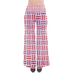 Woven1 White Marble & Red Brushed Metal (r) So Vintage Palazzo Pants by trendistuff