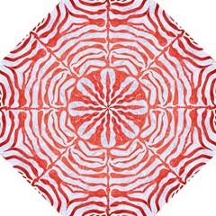 Skin2 White Marble & Red Brushed Metal (r) Hook Handle Umbrellas (large) by trendistuff
