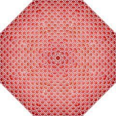 Scales2 White Marble & Red Brushed Metal Hook Handle Umbrellas (large) by trendistuff