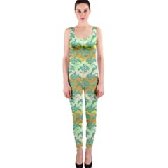 Colorful Tropical Print Pattern One Piece Catsuit by dflcprints